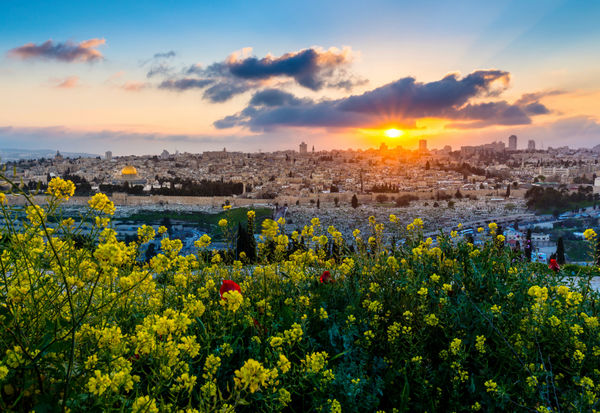Sunset from Mt olives over JLM mindre pix