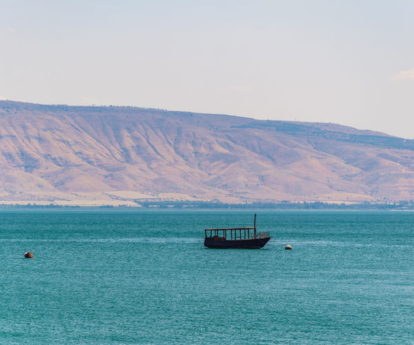 Boat on sea of galilee2
