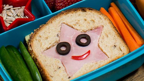 Star Kid Ham And Cheese Sandwich Lunch Box Recipe By British Food Artist Prudence Straite