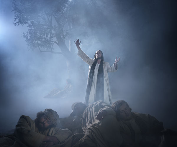 Jesus Prays On The Mount Of Olives